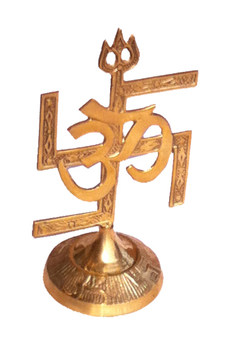Brass Decorative Swastik Om Trisul