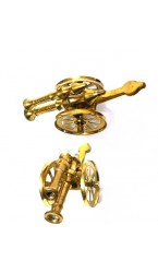 Cannon in Brass Metal (Pair)
