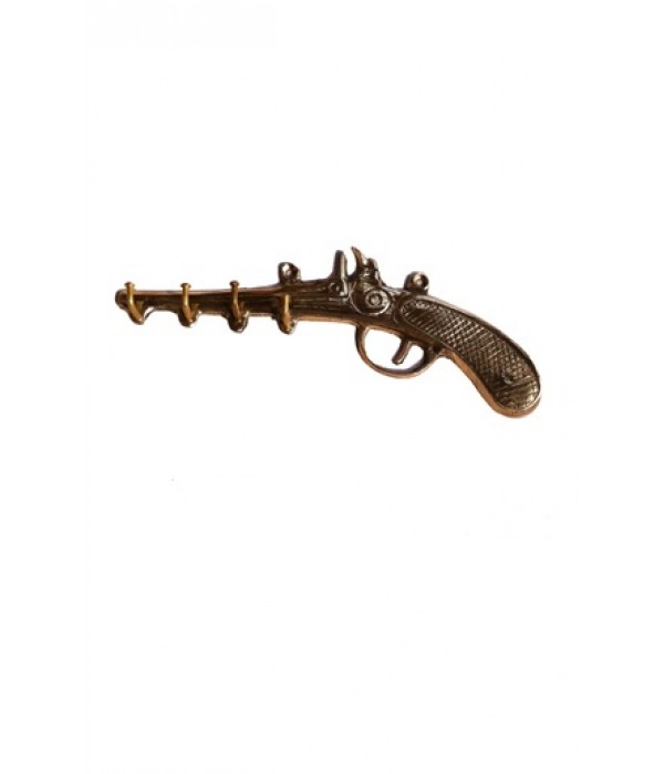Decorative Brass Gun Key Hanger