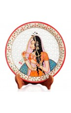 "Bhani Thani Marble Plate - 9"" Inch"