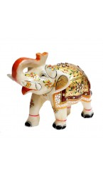 Inlay White Elephant Pair - 2'' Inch