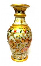 "Decorative Marble Flower Vase - 6"" Inch"