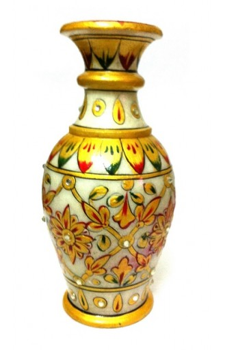 "Decorative Marble Flower Vase 6"" Inch"