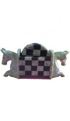 Chess Check Soap Stone Tea Coaster