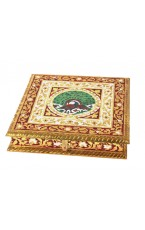 Meenakari Golden Dry Fruit Box
