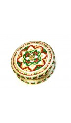 Round Dry Fruit Meenakari Box