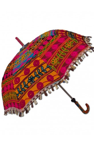 Rajasthan Embroidered Umbrella - Full Size