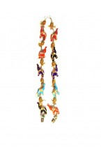 Colorful Elephant With Sippi Door Hanging Pair