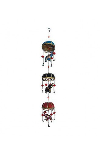 Jaipuri 3 Elephant set Door Hanging (Pair)