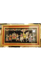 "Rajasthan Royal Marriage Painting - 36 "" X  18 """