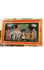 "Rajasthan Royal Marriage Palkee Painting - 36 "" X  18 """