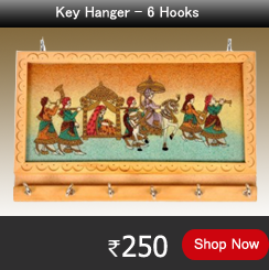 Picture Wooden Key Hanger